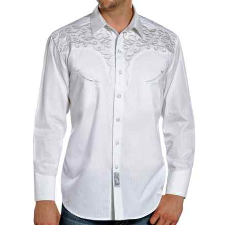 Panhandle Slim Retro Roping the Wind Western Shirt - Snap Front, Long Sleeve (For Men) in White - Closeouts