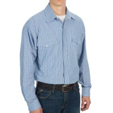 Panhandle Slim Saddlewear Plaid Shirt - Snap Front, Long Sleeve (For Men) in Navy/Hunter - Closeouts