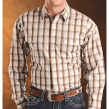 Panhandle Slim Satin Plaid Shirt - Snap Front, Long Sleeve (For Men) in Brown - Closeouts