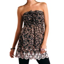 Panhandle Slim Secret Garden Tunic - Ruffle Front, Strapless (For Women) in Black - Closeouts