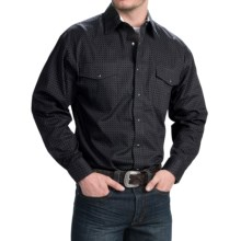 Panhandle Slim Select Peached Poplin Print Shirt - Snap Front, Long Sleeve (For Men) in Charcoal - Closeouts