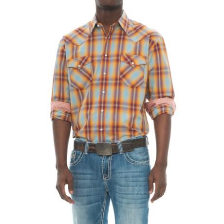 Panhandle Slim Snap Shirt - Silk-Cotton, Long Sleeve (For Men)