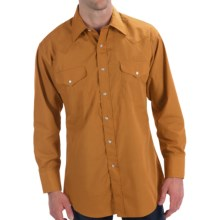 Panhandle Slim Solid Snap Shirt - Long Sleeve (For Men) in Brass - Closeouts