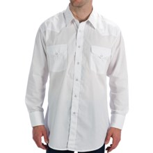 Panhandle Slim Solid Snap Shirt - Long Sleeve (For Men) in White - Closeouts