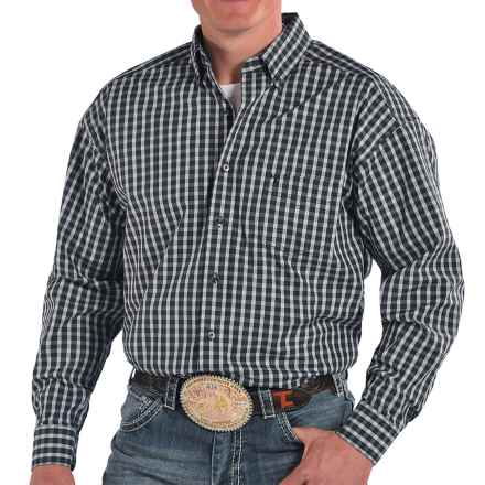 Panhandle Slim Tuf Cooper Competition Fit Plaid Western Shirt - Button Front, Long Sleeve (For Men) in Charcoal - Closeouts