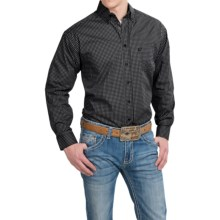Panhandle Slim Tuf Cooper Competition Fit Poplin Shirt - Button Front, Long Sleeve (For Men) in Black Diamonds - Closeouts