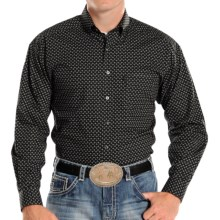 Panhandle Slim Tuf Cooper Competition Fit Poplin Shirt - Button Front, Long Sleeve (For Men) in Black Neat - Closeouts