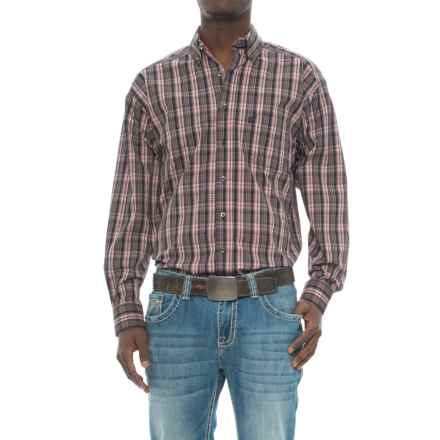 Panhandle Slim Tuf Cooper Competition Fit Poplin Shirt - Button Front, Long Sleeve (For Men) in Pink - Closeouts