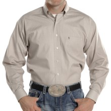 Panhandle Slim Tuf Cooper Competition Fit Poplin Shirt - Long Sleeve (For Men) in Brown - Closeouts