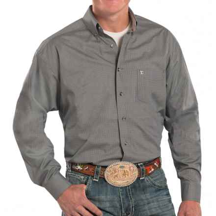 Panhandle Slim Tuf Cooper Competition Fit Poplin Shirt - Long Sleeve (For Men) in Charcoal - Closeouts