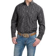 Panhandle Slim Tuf Cooper Competition Printed Shirt - Long Sleeve (For Men) in Black Paisley Stripe - Closeouts