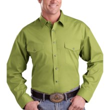 Panhandle Slim Twill Snap Shirt - Long Sleeve (For Men) in Sage Green - Closeouts