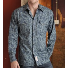 Panhandle Slim Vintage Wallpaper Print Shirt - Snap Front, Long Sleeve (For Men) in Dusty Teal - Closeouts