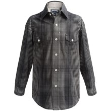 Panhandle Slim Western Plaid Shirt - Snap Front, Long Sleeve (For Little and Big Boys) in Charcoal - Closeouts