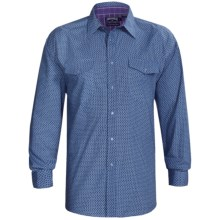 Panhandle Slim Western Shirt - Peached Poplin, Snap Front, Long Sleeve (For Men) in Blue - Closeouts