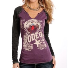 Panhandle Slim White Label Raglan Heather Shirt - Long Sleeve (For Women) in Eggplant - Overstock