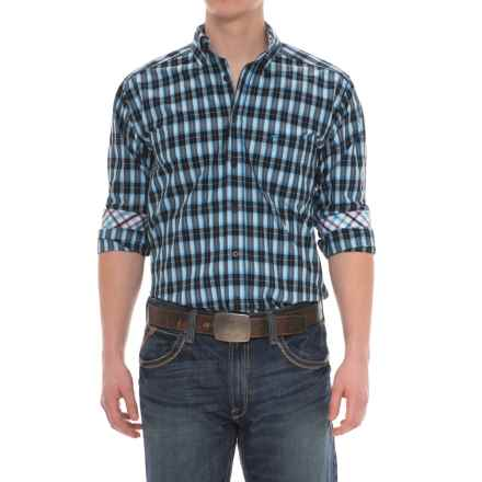 Panhandle Tuf Cooper Competition Fit Plaid Shirt - Button Front, Long Sleeve (For Men) in Black/Blue - Overstock