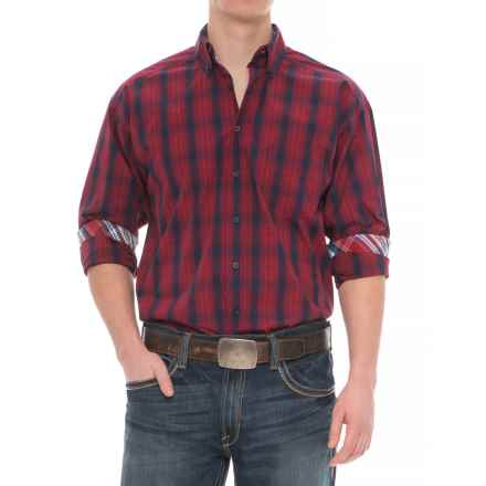 Panhandle Tuf Cooper Performance Plaid Shirt - Button Front, Long Sleeve (For Men) in Red/Blue - Overstock