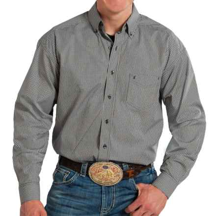 Panhandle Tuf Cooper Poplin Plaid Western Shirt - Long Sleeve (For Men) in Black - Closeouts