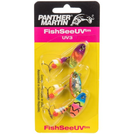 Panther Martin FishSeeUV Spinner Lure - 3-Pack in Asst