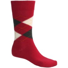 Pantherella Argyle Socks - Merino Wool, Midweight, Crew (For Men) in Red - Closeouts