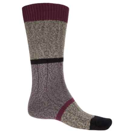 Pantherella Boultham Block Stripe Socks - Mid Calf (For Men) in Grey - Closeouts