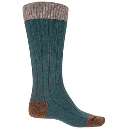 Pantherella Burghley Rib Socks - Mid Calf (For Men) in Petrol - Closeouts