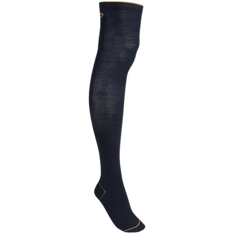 Pantherella Contrast Trim Socks - Wool Blend, Over-the-Calf (For Women) in Navy