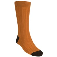 Pantherella Country Cotton Melange Socks - Crew (For Men) in Mandarin - Closeouts