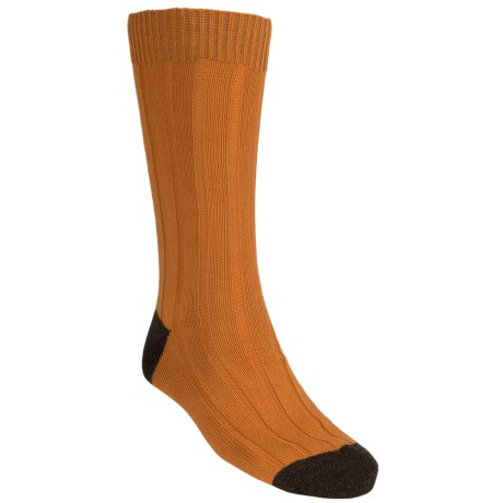 Pantherella Country Cotton Melange Socks - Crew (For Men) in Mandarin