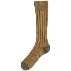 Pantherella Country Cotton Melange Socks - Crew (For Men) in Coral