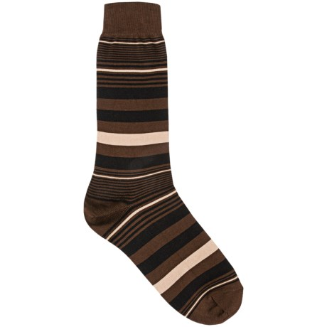 Pantherella Crew Dress Socks - Cotton-Nylon (For Men) in Chocolate