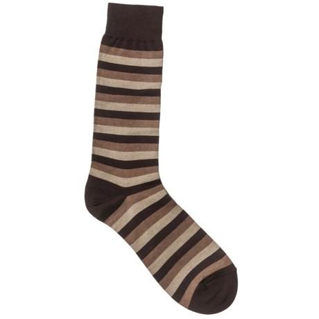 Pantherella Crew Dress Socks - Cotton-Nylon (For Men) in Plum