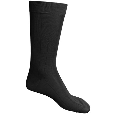 Pantherella Dress Socks - Egyptian Cotton, Mid Calf (For Men) in Dark Brown
