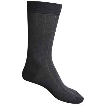 Pantherella Dress Socks - Egyptian Cotton, Mid Calf (For Men) in Dark Grey - Closeouts