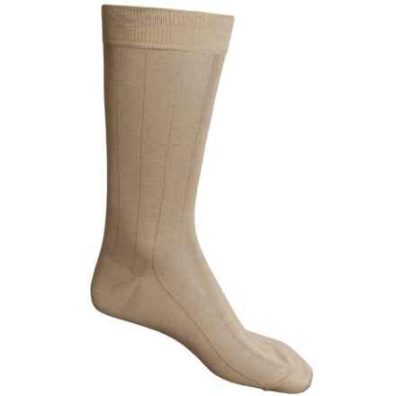 Pantherella Dress Socks - Egyptian Cotton, Mid Calf (For Men) in Light Khaki - Closeouts