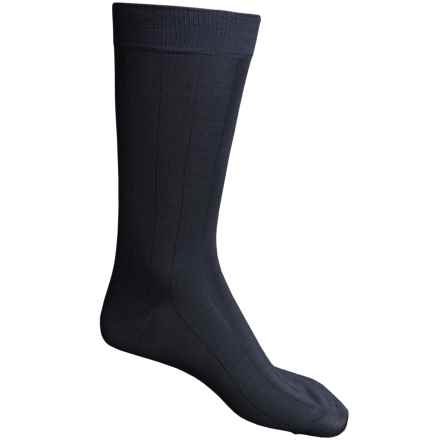 Pantherella Dress Socks - Egyptian Cotton, Mid Calf (For Men) in Navy - Closeouts