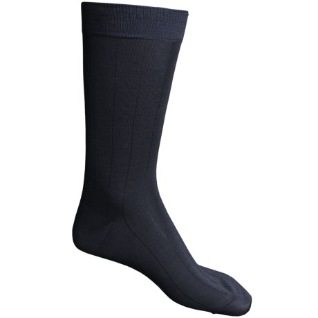 Pantherella Dress Socks - Egyptian Cotton, Mid Calf (For Men) in Navy