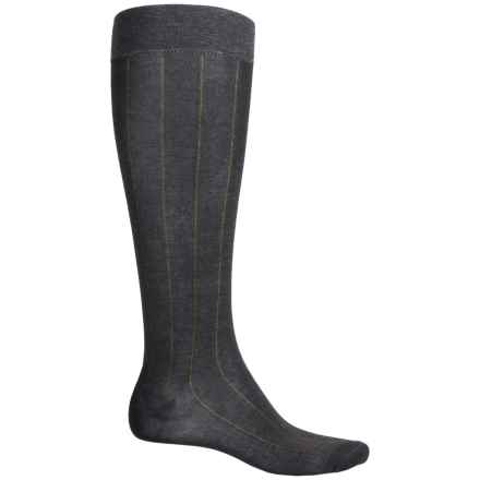 Pantherella Egyptian Cotton Dress Socks - Over the Calf (For Men) in Dark Grey - Closeouts
