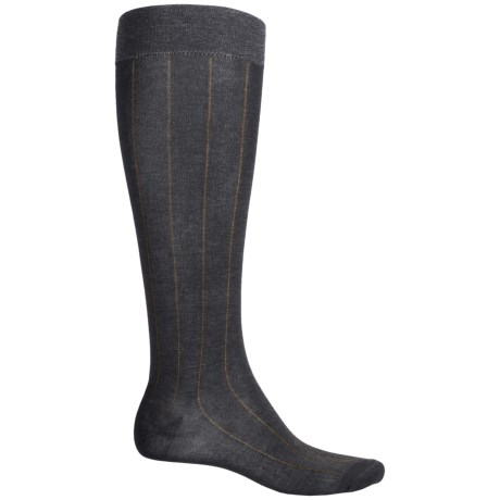 Pantherella Egyptian Cotton Dress Socks - Over the Calf (For Men) in Dark Grey