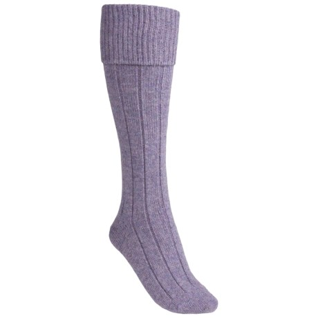 Pantherella Knee-High Shooting Socks - Wool Blend, Over-the-Calf (For Women) in Elegance