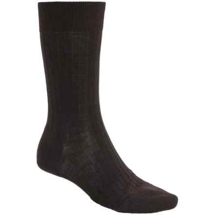 Pantherella Merino Wool Blend Socks - Mid Calf (For Men) in Dark Brown - Closeouts