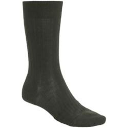 Pantherella Merino Wool Blend Socks - Mid Calf (For Men) in Black