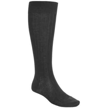 Pantherella Merino Wool Socks - Over the Calf (For Men) in Black - Closeouts