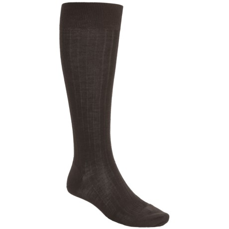 Pantherella Merino Wool Socks - Over the Calf (For Men) in Dark Brown