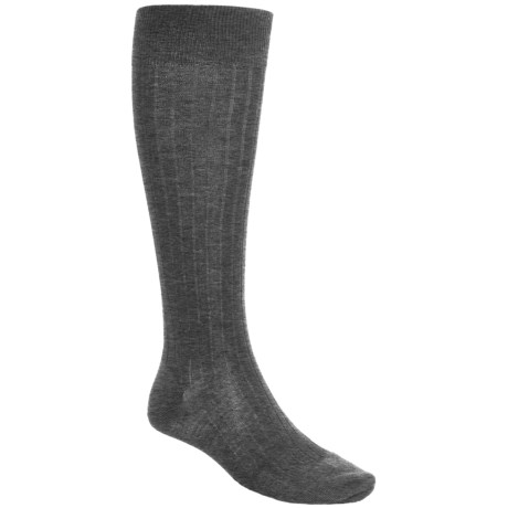 Pantherella Merino Wool Socks - Over the Calf (For Men) in Dark Grey