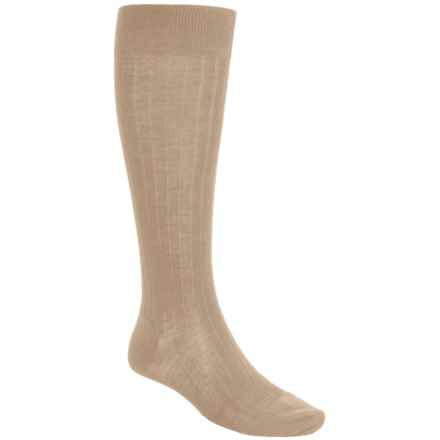 Pantherella Merino Wool Socks - Over the Calf (For Men) in Light Khaki - Closeouts