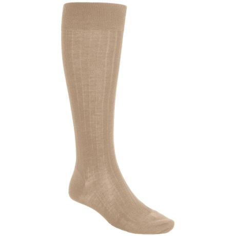 Pantherella Merino Wool Socks - Over the Calf (For Men) in Light Khaki