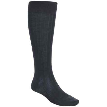Pantherella Merino Wool Socks - Over the Calf (For Men) in Navy - Closeouts