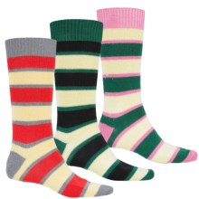 Pantherella Merino Wool Socks with Gift Box - Mid-Calf, 3-Pack (For Men) in Green/Yellow/Natural - Closeouts
